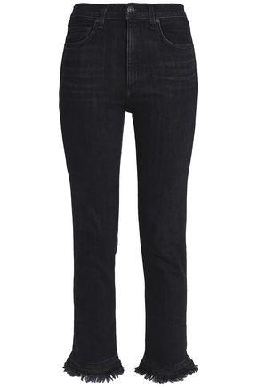 RAG & BONE Frayed high-rise skinny jeans
