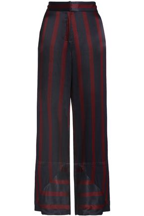BY MALENE BIRGER Striped satin wide-leg pants