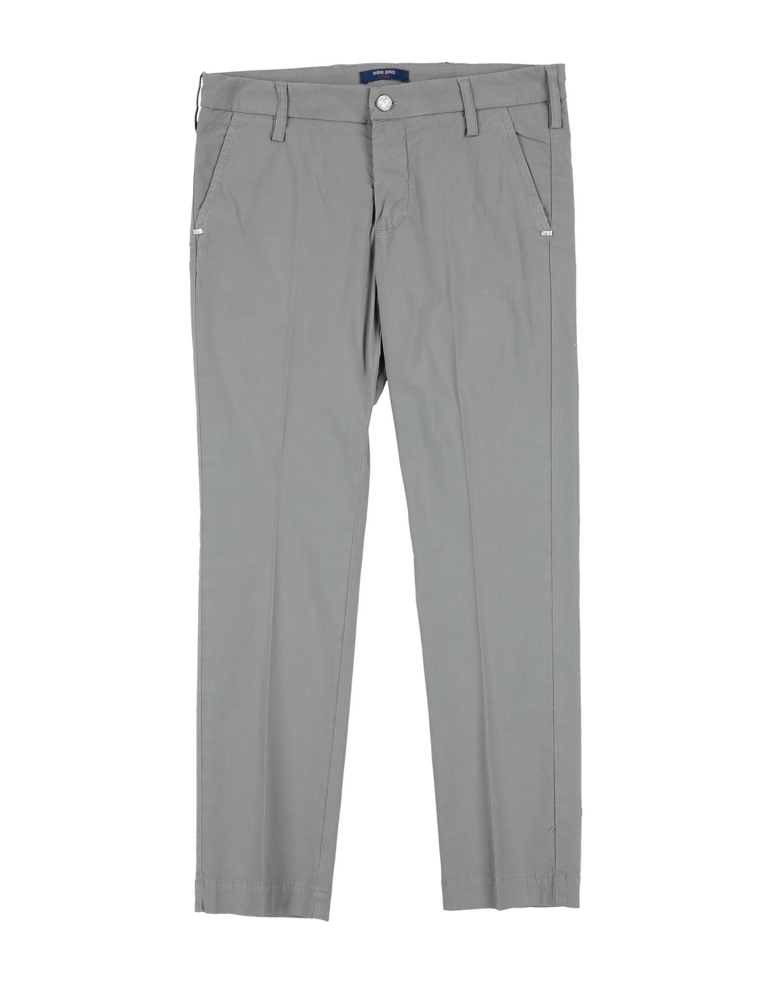 Entre Amis Garçon Kids' Casual Pants In Grey