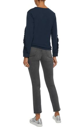 IRIS & INK Toni cropped high-rise slim-leg jeans