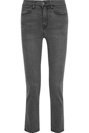 IRIS & INK Toni cropped high-rise slim-leg jeans