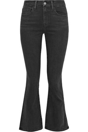 IRIS & INK Rebecca high-rise kick-flare jeans