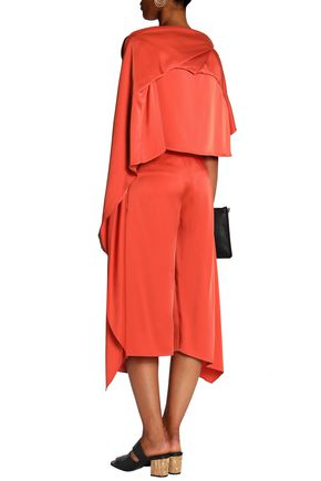 CHALAYAN Pleated satin-crepe culottes