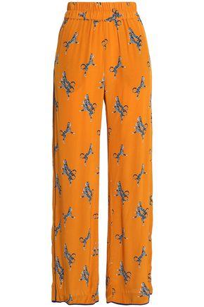 BAUM UND PFERDGARTEN Printed crepe wide-leg pants