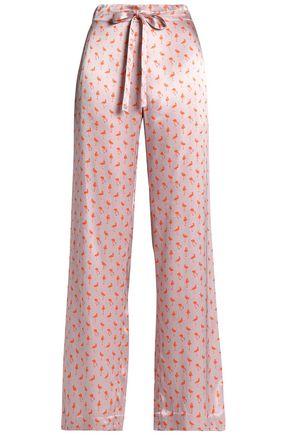 BAUM UND PFERDGARTEN Printed satin wide-leg pants