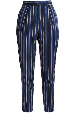 BAUM UND PFERDGARTEN Cropped striped woven straight-leg pants