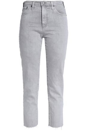 AG JEANS High-rise slim-leg jeans