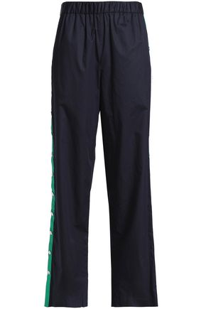 TIBI Cotton-poplin track pants