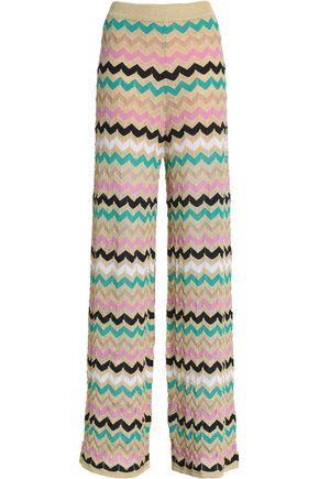 M MISSONI Crocheted cotton-blend wide-leg pants
