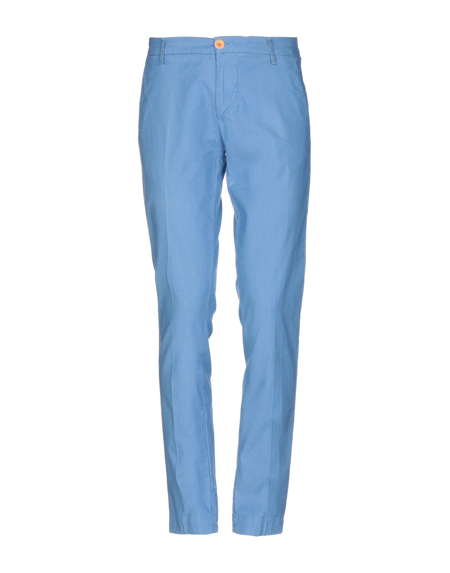 《セール開催中》DIMATTIA メンズ パンツ アジュールブルー 44 コットン 97% / ポリウレタン 3%