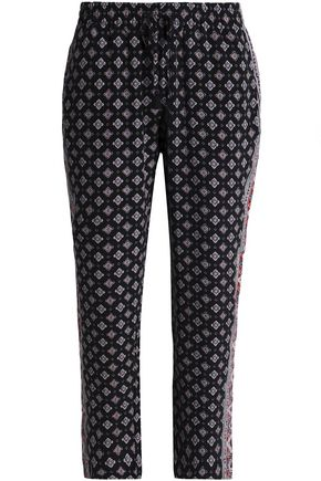 JOIE Printed silk straight-leg pants