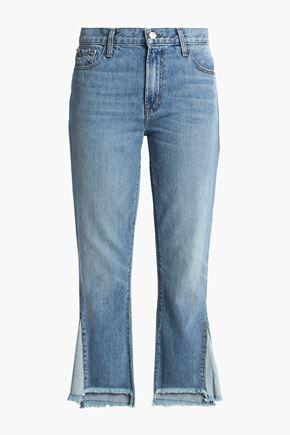 J BRAND Frayed high-rise straight-leg jeans