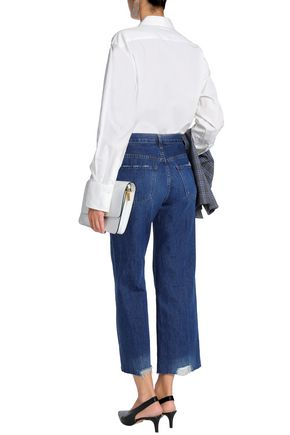 J BRAND Joan cropped distressed high-rise wide-leg jeans