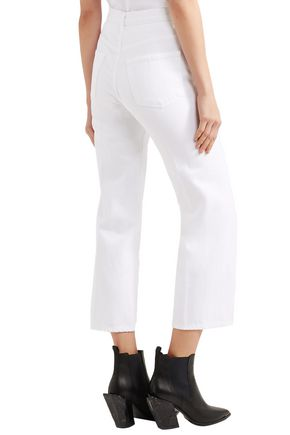 J BRAND Cropped high-rise wide-leg jeans