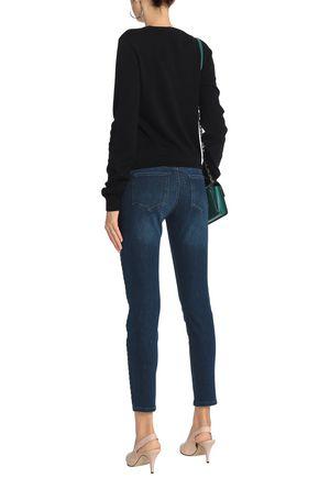 LOVE MOSCHINO Low-rise slim-leg jeans