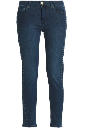 LOVE MOSCHINO Low-rise slim-leg jeans