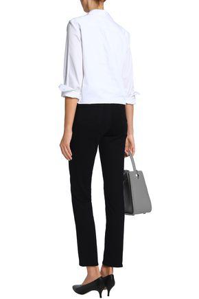 J BRAND Maude frayed mid-rise slim-leg jeans