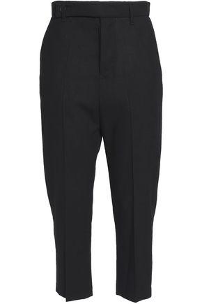 RICK OWENS Cropped wool-crepe slim-leg pants