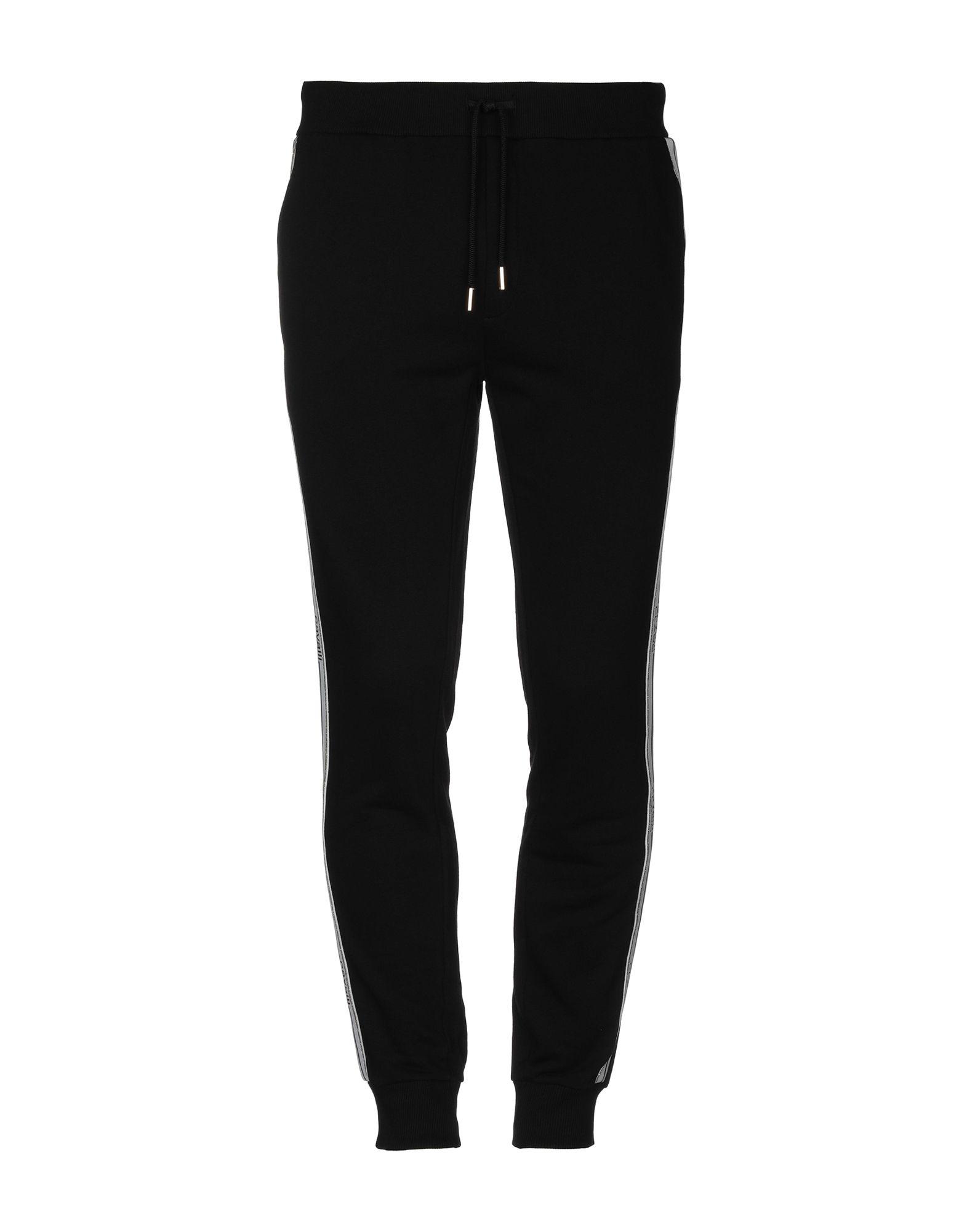 《セール開催中》CAVALLI CLASS メンズ パンツ ブラック S コットン 100%
