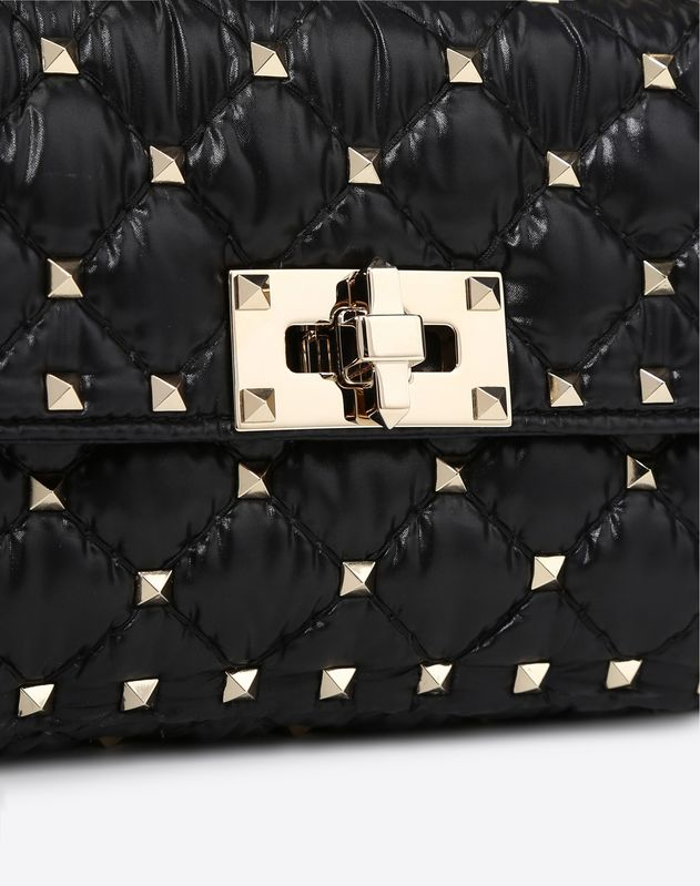 MONCLER QUILTED NYLON Small Spike Bag