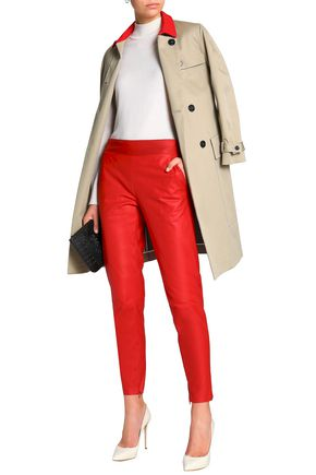 DROMe Leather tapered pants