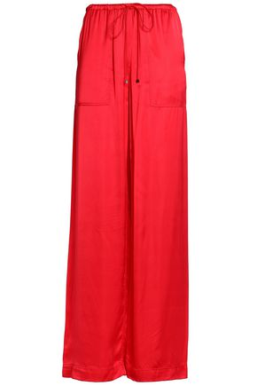 AMANDA WAKELEY Satin wide-leg pants