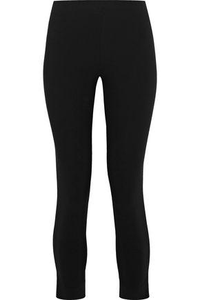 MOSCHINO Cropped stretch-cady leggings