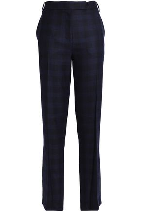 TIBI Checked wool straight-leg pants