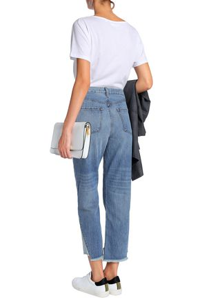 J BRAND Wynne cropped high-rise straight-leg jeans