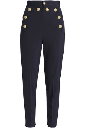 Scalloped Woven Tapered Pants by Red Valentino