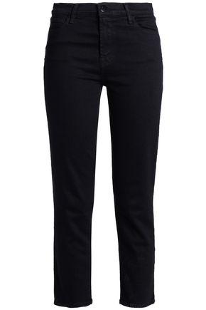 J BRAND Cropped high-rise slim-leg jeans