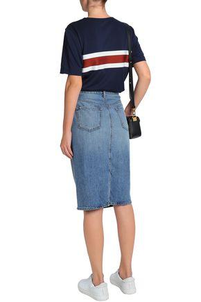 J BRAND Faded denim skirt