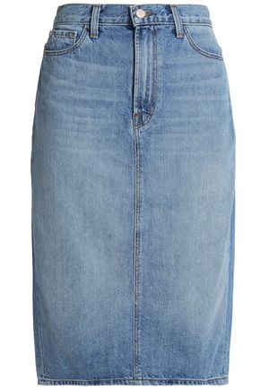 J BRAND Faded denim skirt