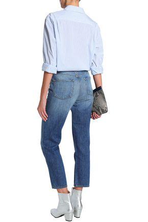 J BRAND Cropped faded boyfriend jeans