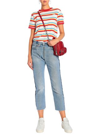 RE/DONE by LEVI'S Faded high-rise straight-leg jeans