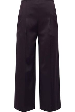 CHALAYAN Cropped satin wide-leg pants