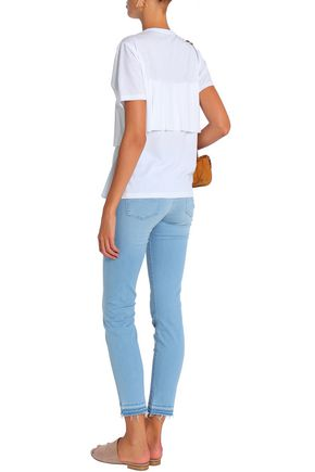 7 FOR ALL MANKIND Frayed mid-rise skinny jeans