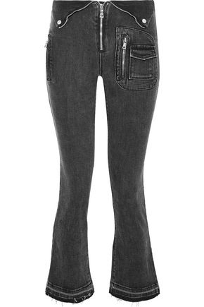 RTA Cropped high-rise kick-flare jeans