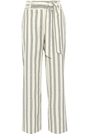 REBECCA MINKOFF Molly striped cotton wide-leg pants