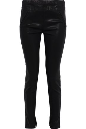 RTA Sonia coated mid-rise skinny jeans