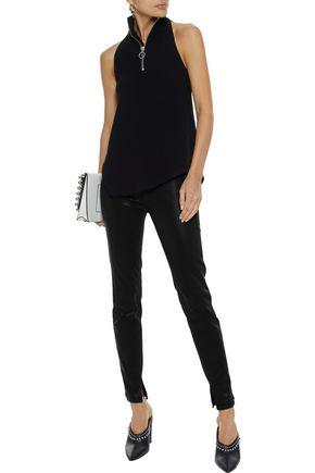 RTA Sonia coated mid-rise skinny jeans