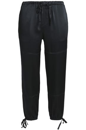 JOIE Silk-satin tapered pants
