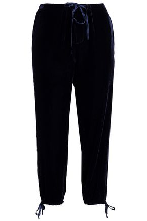 JOIE Dyre cropped velvet tapered pants