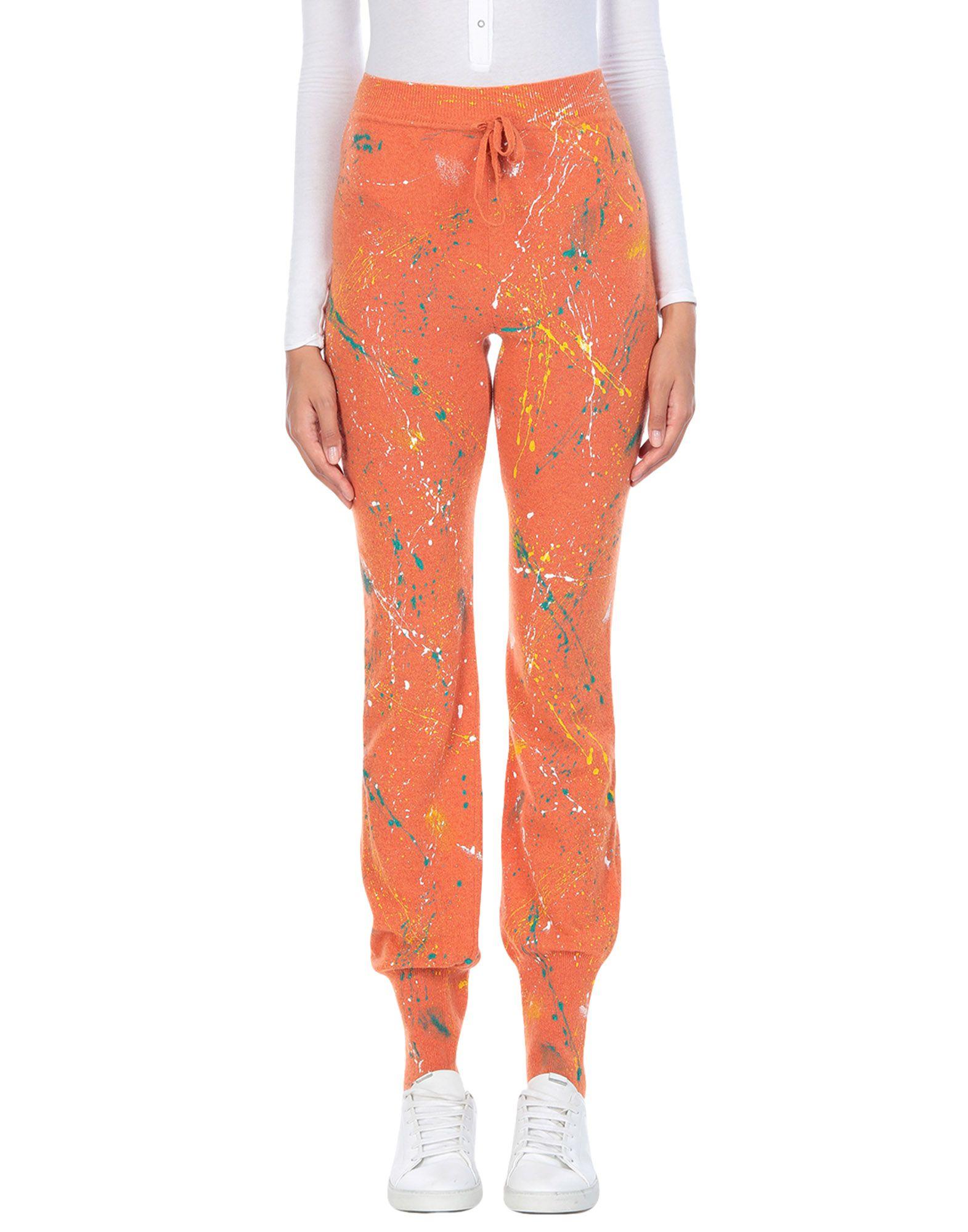 《送料無料》ANDREAS KRONTHALER for VIVIENNE WESTWOOD レディース パンツ オレンジ L/XL カシミヤ 97% / ウール 3%
