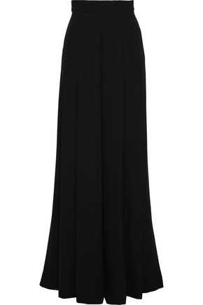 BRANDON MAXWELL Pleated silk-crepe wide-leg pants