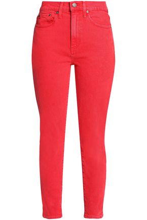 AO.LA by ALICE + OLIVIA Good cropped high-rise slim-leg jeans