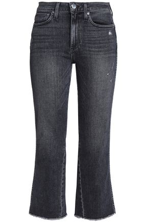 AO.LA by ALICE + OLIVIA Frayed frayed mid-rise bootcut jeans