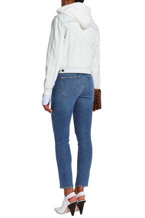ALICE + OLIVIA Good cropped high-rise slim-leg jeans
