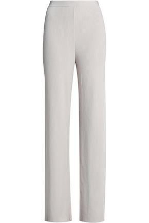 GENTRYPORTOFINO Ribbed-knit wide-leg pants
