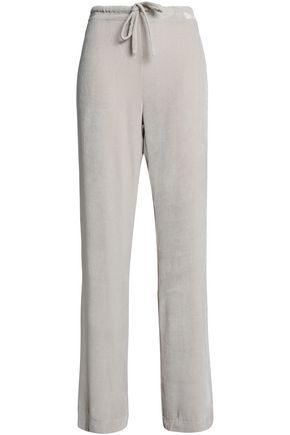 GENTRYPORTOFINO Velvet wide-leg pants